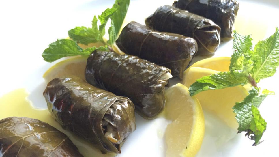 Vegetarian Stuffed Grape Leaves: Dolmades ⋆ Cosmos Philly
