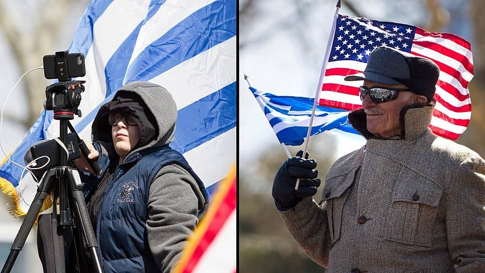Between Two Elias at the Greek Independence Day Parade