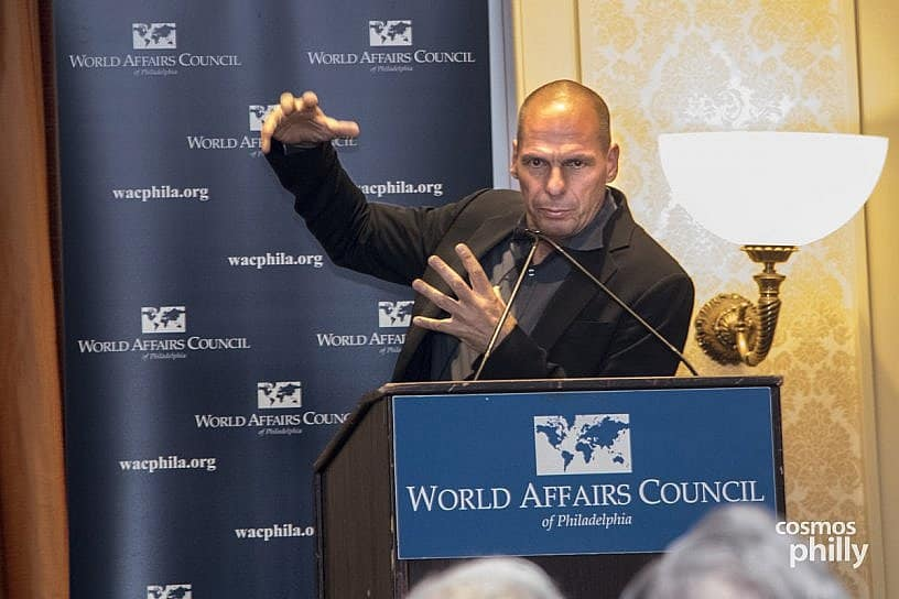 Greece's Former Finance Minister Yianis Varoufakis Visits Philadelphia