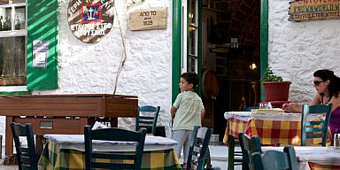 """I kseri elia"" tavern, Hydra Island, Greece"