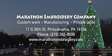 Season's Greetings from Marathon Embroidery Company