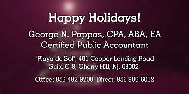 Season's Greetings from George N. Pappas C.P.A.