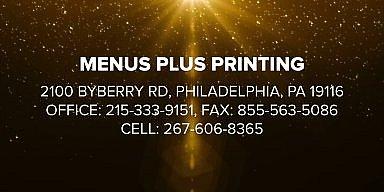 Season's Greetings from Nick Giannoumis Menu Plus Printing