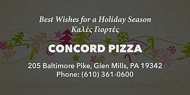 Season's Greetings from Concord Pizza